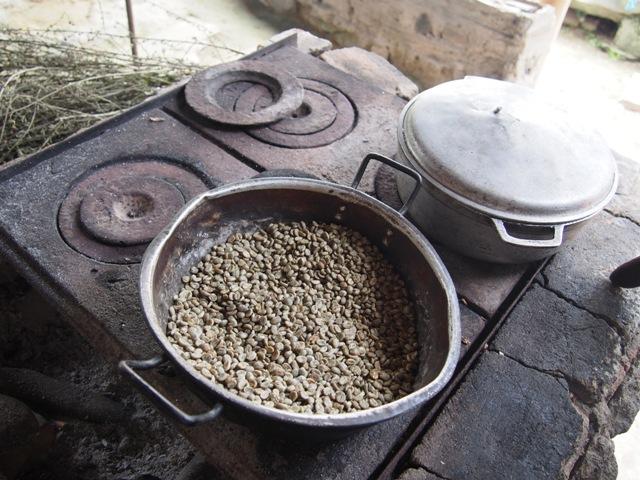 Palenie ziaren kawy