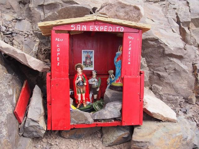 Przydrożna kapliczka, Quebrada de Humahuaca, północ Argentyny