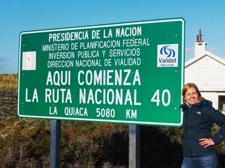 Początek słynnej drogi nr 40, na północ Argentyny pozostało 5080 km